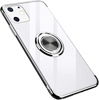 GRKJGytech for iPhone 11 Case 6.1 inch with Clear Ring Holder Car Magnetic Slim Fit Soft Flexible TPU Silicone Cover Medium Silver 5X26TF14NE5KICM5IE48VGHEN
