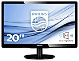 Philips 200V4LAB2/00 - Monitor de 19.5' (resolución 1600 x 900 pixels, tecnología WLED, contraste 1000:1, 5 ms, VGA, 200 cd/m² , altavoces), color negro
