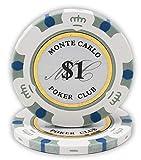 DA VINCI 14 Gram Clay Monte Carlo Poker Club Premium Quality Poker Chips