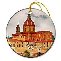 イタリアフィレンツェ神学校クリスマスオーナメントセラミックシート旅行お土産ギフト
