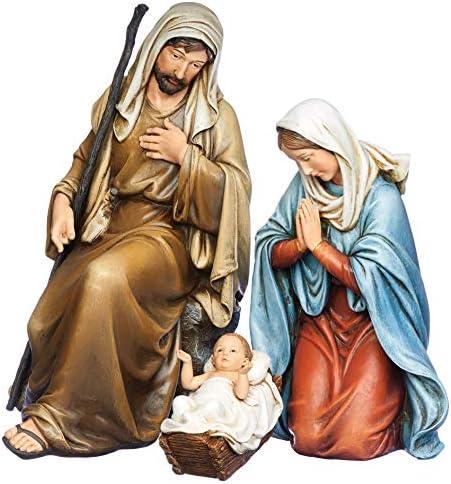 Joseph s Studio by Roman 3 Piece Nativity Set Kneeling Holy Family Includes Baby Jesus Mary product image