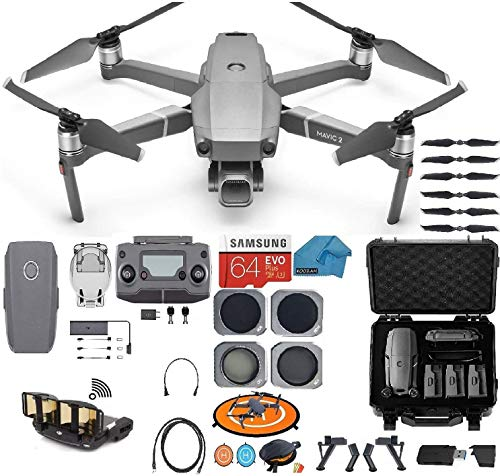 DJI Mavic 2 PRO Drone Quadcopter, with ND, Cpl Lens Filters, Waterproof Case, 64GB SD Card, with Hasselblad Video Camera Gimbal Bundle Kit with Must Have Accessories