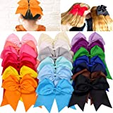 JOYOYO 20Pcs 7' Large Cheer Bows for Girls...