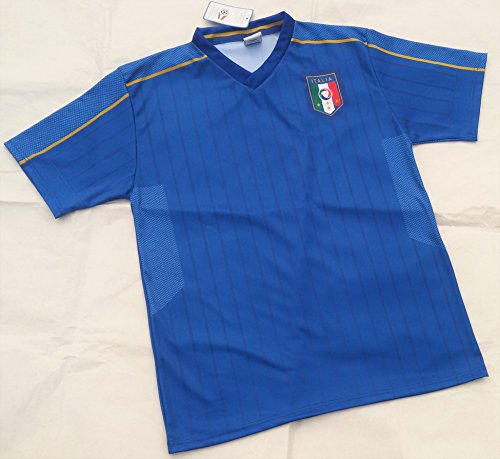 Camiseta de Fútbol Euros 2016 Italia Neutra Replica Oficial AZZURRA Talla:6 años