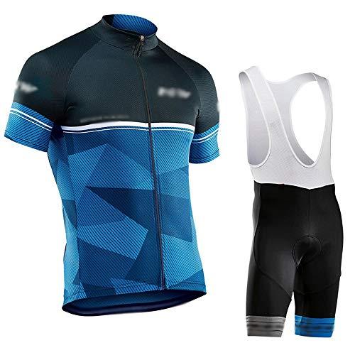 GONGMICF Hombre Maillot Ciclismo Corto,Secado Rápido Ropa Ciclismo,Maillot Ciclismo + Culotte con...