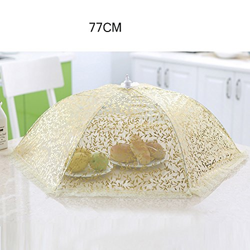 Isolation Round Large Encrypted Food Cover Folding Food Food Cover Cover Le Cover Antiplayer Table Cover Lace Umbrella (2 couleurs facultatif) (taille en option) Antiparasitaire