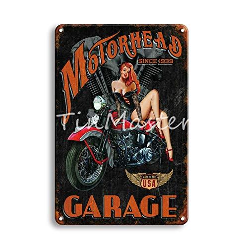 Jinlyp Retro TT Motocicleta Metal Cartel de Chapa Garaje hogar Sala de Estar decoración Placa de Metal Cartel 20x30 cm 50472