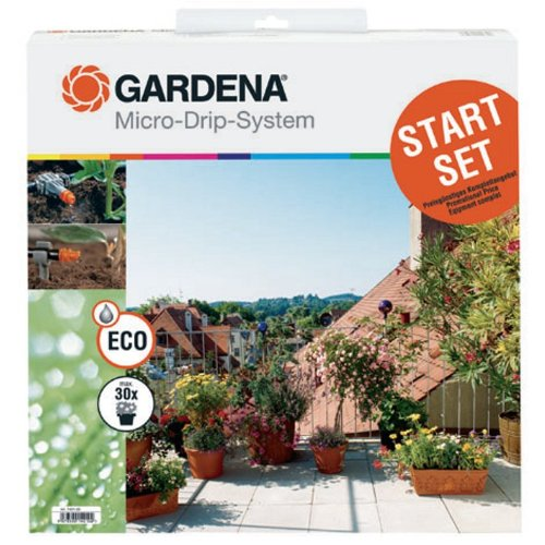 51VWe0OmDcL - Gardena 1398 Micro Drip Watering Starter Kit With Timer