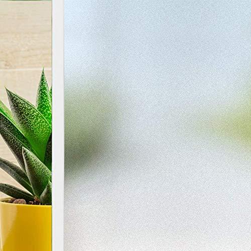Xkfgcm Pellicola Anti UV per Uso Domestico Pellicola per Vetri Autoadesivi Opachi Autoadesivi con Pellicola per Vetri Pellicola Finestre Ispessimento Bianco Opaco 30X400 cm