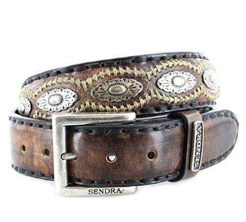 Sendra Boots 7606 Canela lederen riem voor dames en heren, bruin, lengte: 120