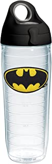 Tervis 1231943 Batman Tumbler with Emblem and Black with Gray Lid 24oz Water Bottle, Clear