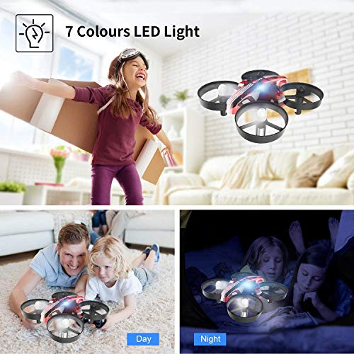 ATOYX Mini Drone for Kids and Beginners,Portable Remote Control RC Quadcopter Drone Toy, Best Drone for Boys and Girls with Altitude Hold, 3D Flips, Headless Mode,LED Light