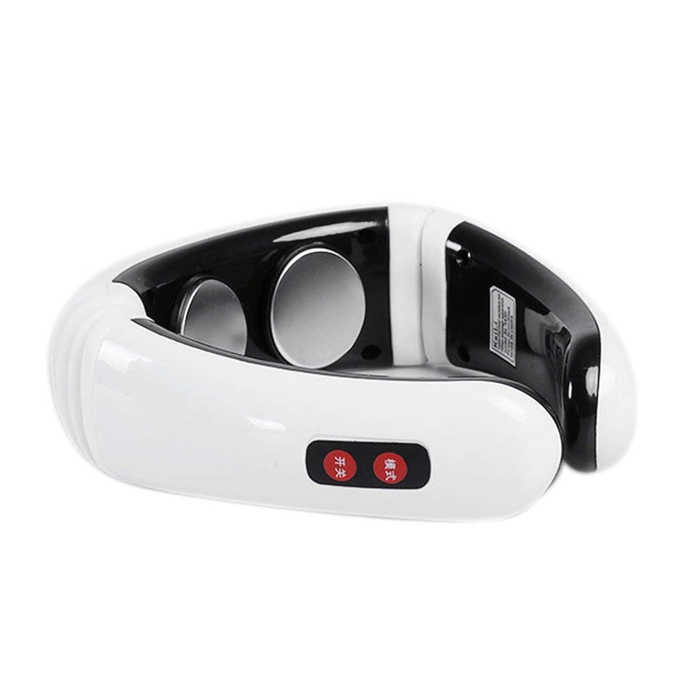 時計回りラオス人ブラジャーDeeploveUU 電気パルスバックネックマッサージャー頸椎治療器具鍼磁気療法ネックピローマッサージャー