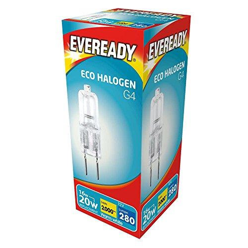 20/W /équivalent 14/W Capsule Eveready Ampoule Eco Halog/ène 14/W G4