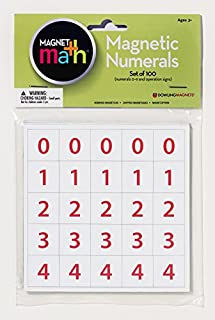 Dowling Magnets Magnetic Numerals (.88 inch in diameter), Set of 100