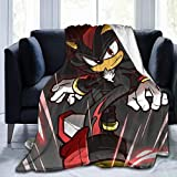 Tea Language Shadow The Hedgehog Super Soft Fuzzy Light Weight Warm Blanket for Bed Couch Chair Fall Winter Spring Living Room Multiple Sizes,50'' x40