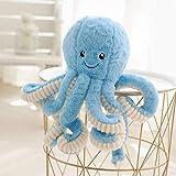 LAMF - Juguetes de peluche gigantes de pulpo de peluche, juguetes para niños y niños, Algodón PP., azul, 15.7''(40cm)