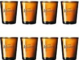 Ichnusa Set di 8 Bicchieri da Birra - Colorati in Vetro - Vino - Cocktail - Whisky - Desig...