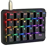 Koolertron One Handed Macro Mechanical Keyboard, RGB LED Backlit...