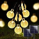 Prevessel Cadena de luces para exteriores, 2 piezas de 50 LED de...