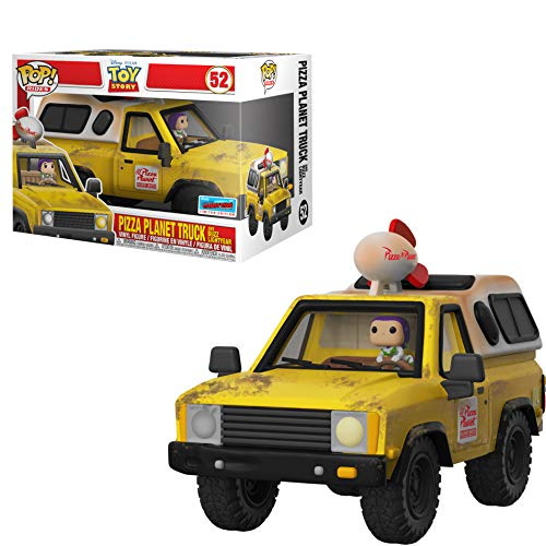 Pizza Planet Truck & Buzz Lightyear (2018 Fall Con Exc): Funko Pop! Rides Vinyl Figure & 1 Compatible Protector Bundle (052 - 34754 - B)