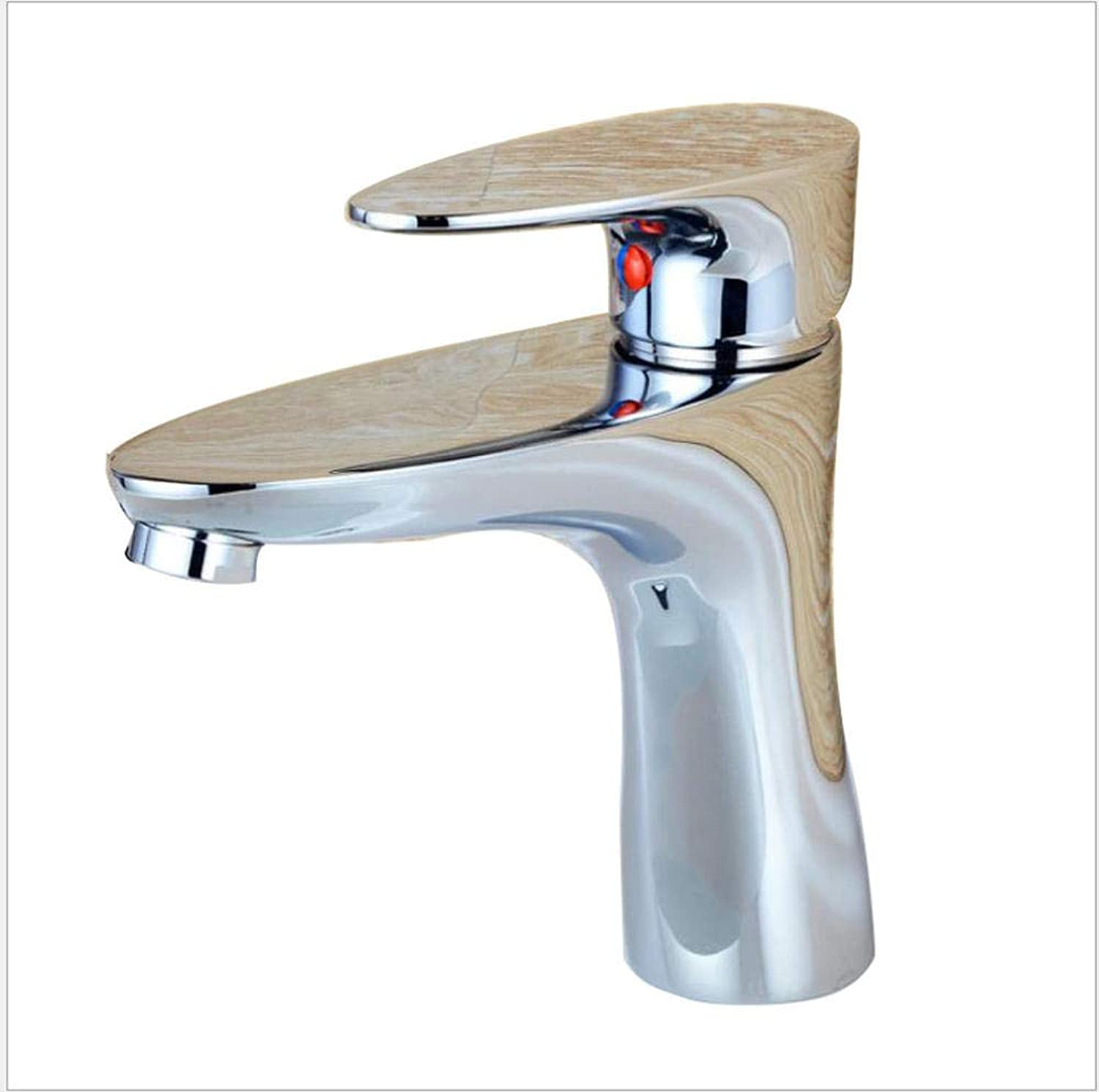 Kitchen Sink Taps Bathroom Sink Taps Bathroom Faucet, Bathroom Bathroom, Basin, Ceramic Basin Faucet, Copper Cold And Hot Water Mixing Single-Hole Faucet