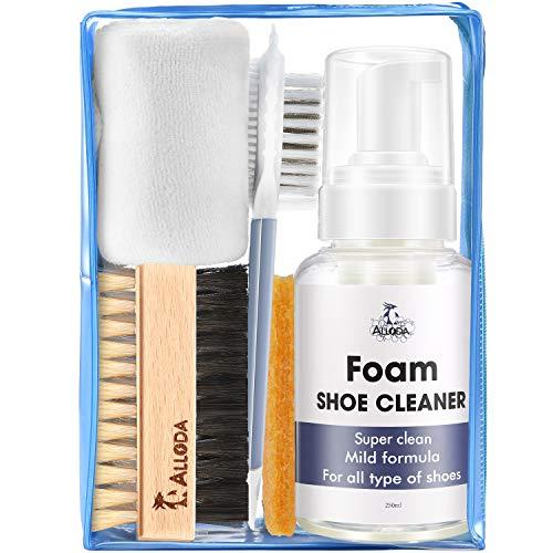 Alloda Foam Shoe Cleaner, Clean 80Pairs, Suede Shoe Cleaner, Leather Cleaner, Sneaker Cleaner Kit, Shoe Cleaning Kit with Brush Towel, Shoe Cleaner Sneakers