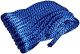 Bulk Hardware BH03170 - Espiral Cuerda De Polipropileno 30m x 7 mm, Azul