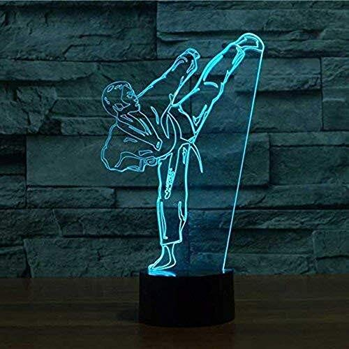3D Lámpara ilusión 3D ilusión visual óptico lámpara