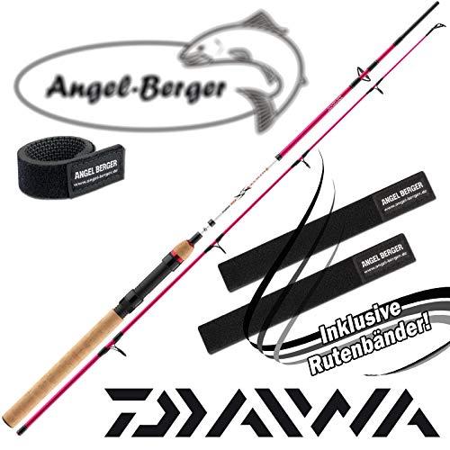 Daiwa Ninja X Kids 1,50m 10-30g Angelruten Spinnrute kinderrute Rutenband (Pink)