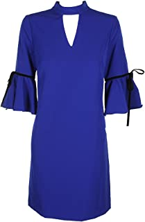 Julia Jordan Womens Special Occasion Bell Sleeves Party Dress Blue 8