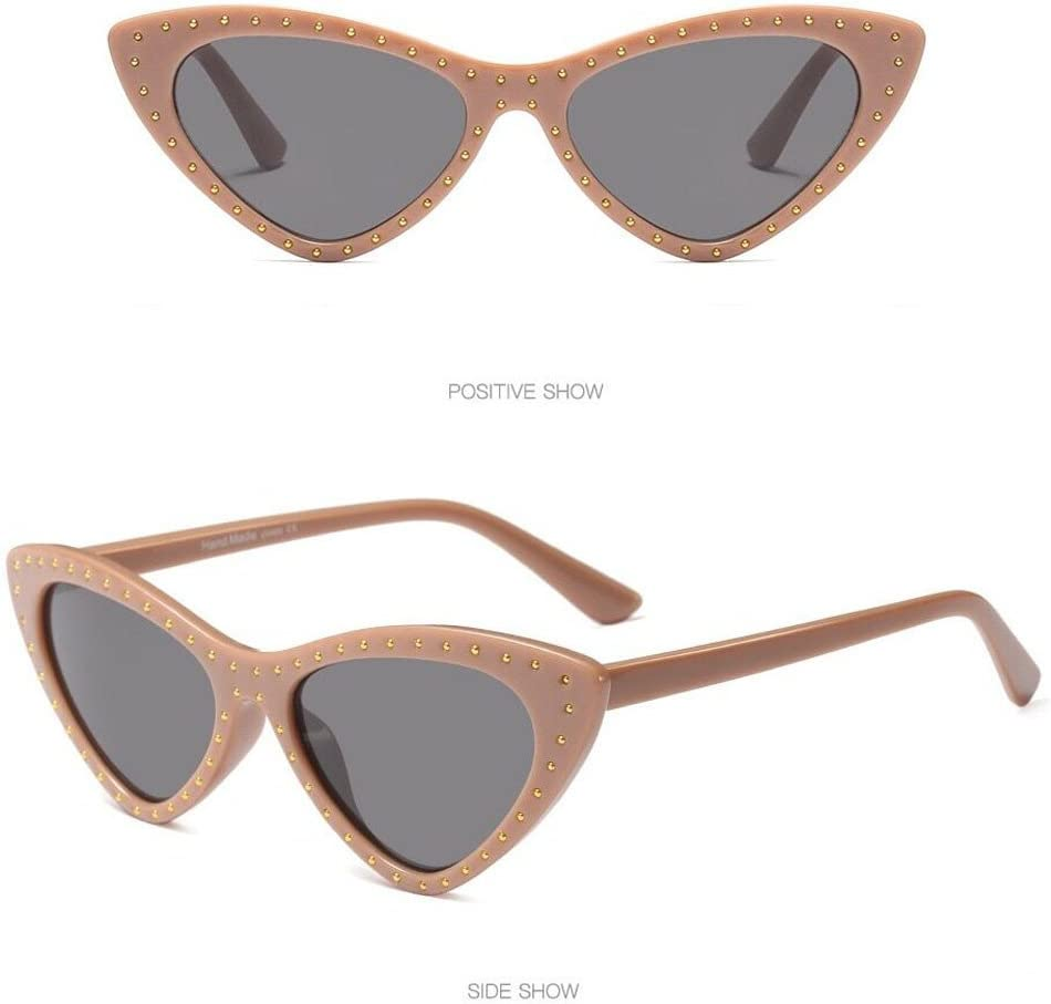 Sunglasses Hergoto Retro Vintage Clout Cat Eye Unisex Sunglasses Rapper Grunge Glasses Eyewear B