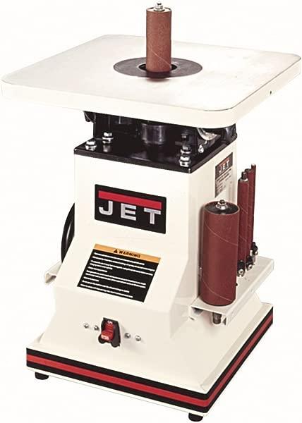 JET 708404 JBOS 5 5 1 2 Inch 1 2 Horsepower Benchtop Oscillating Spindle Sander With Spindle Assortment 110 Volt 1 Phase