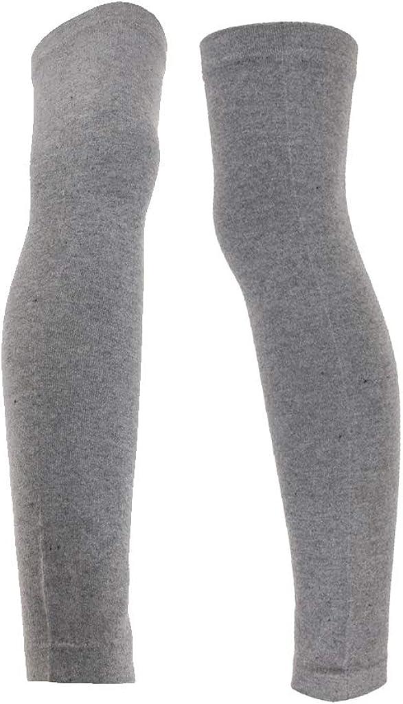 dailymall 1 Pair Fleece Women Girl Winter Over Knee Footless Socks Leg Warmer Sleeves