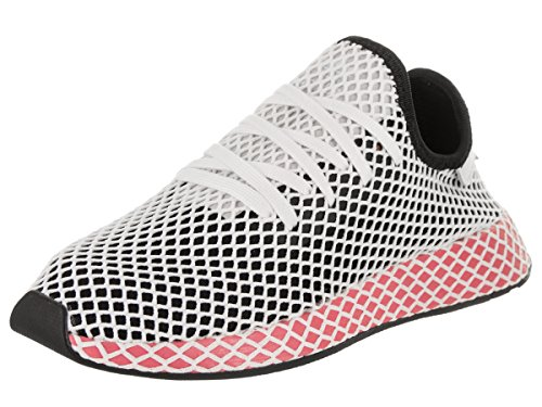 adidas Womens Deerupt Runner Lace Up Sneakers Shoes Casual - White - Size 10 B