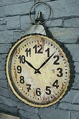 Livitat® Wanduhr Hängeuhr Taschenuhr Vintage Retro Metall 48 x 34 cm Retro Schwarz LV5088