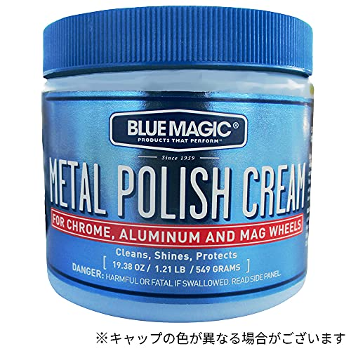 BlueMagic (ブルーマジック) METAL POLISH CREAM (メタルポリッシュクリーム) 金属光沢磨きクリーム 550g BM500