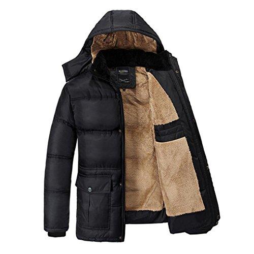 Yaer Giacca Invernale da Uomo, Addensare Pelliccia Calda Impermeabile A Prova di Vento Outwear Coat Dimensione M-5L