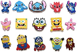 15pcs Shoe Charms for Croc & Bracelet Wristband Kids Party Birthday Gifts, cute decoration for shoes, great present for kids