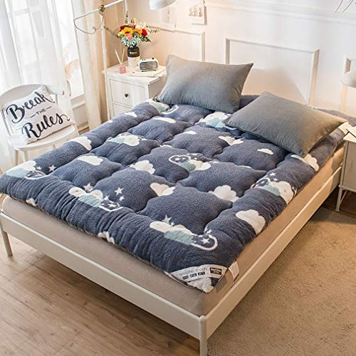 GZXX Japanse vaste matras, van katoen, Tatami-matras, comfortabele rol-up-matras, ademend, antislip, futonmatras, slaapkamer