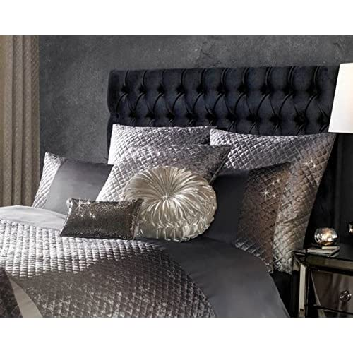 9cd63ee8600b KYLIE MINOGUE GIA SLATE SILVER GREY SEQUIN HOUSEWIFE PILLOWCASE