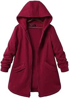 Women's Basic Loose Fit Pocket Pullover Hoodie Long Tunic Sweatshirts Casual Zip-Up Hoodie Jackets