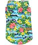 Parisian Pet Hawaiian Tropical Shirt for Dogs – Hibiscus Print Summer Dog Shirt with Velcro, Size L - Perfect Beach Outfit for Pets
