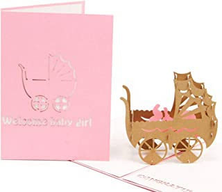 HUNGER Handmade 3D Pop Up Congrats Greeting Cards for Newborn Babies Gifts New Parents