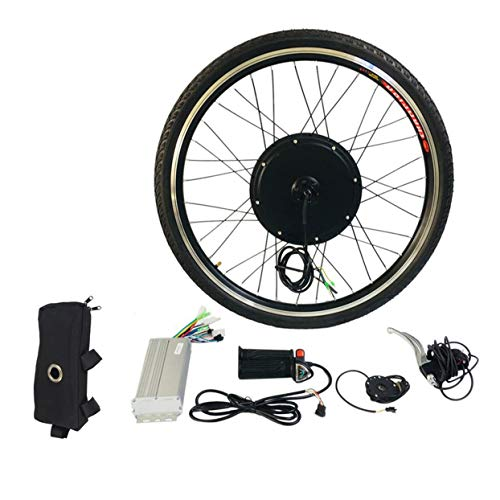 Uniquelove 48V 1000W 26'Kit de conversión de Bicicleta eléctrica, Kit de conversión de Motor de Bicicleta eléctrica de Rueda Delantera, Controlador de Modo Dual E-Bike Ciclismo Hub