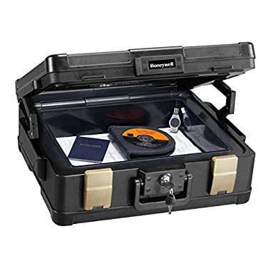 Honeywell Fire Safe Waterproof Safe Box Chest with Carry Handle, Large, 1104