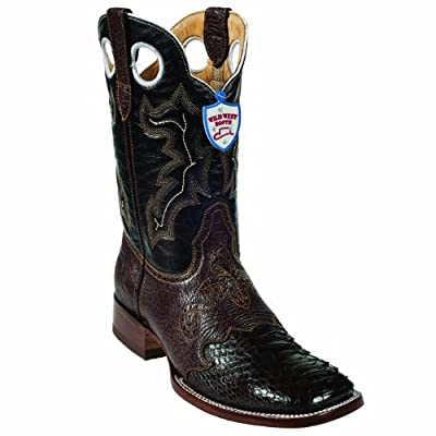 Phtyon Skin Western Style Boot, Brown, Ranch Toe, Leather