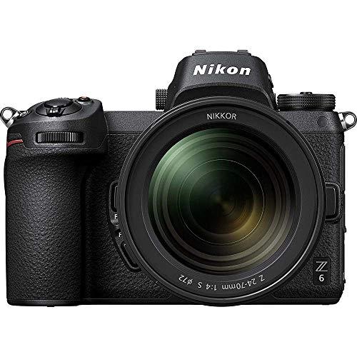 Nikon 1598B Z6 24.5MP FX-Format 4K Mirrorless Camera with NIKKOR Z 24-70mm f/4 S Lens - (Renewed)