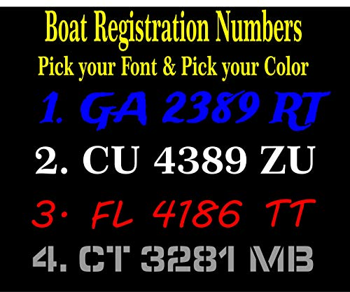 Boot Hull Registratie Nummers Decals/Stickers - 3 inch Letters/Nummers