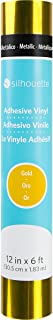 Silhouette Glossy Permanent Vinyl, 12 by 6-Feet, Gold